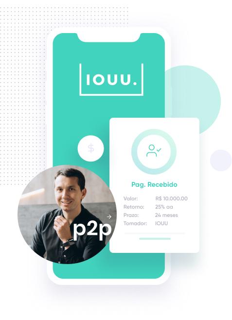 Peer-to-Peer Lending - Tela da plataforma da IOUU