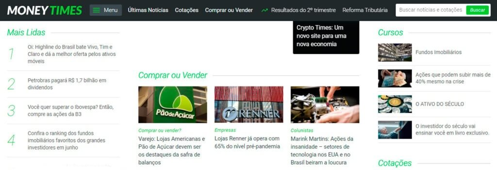 money times brasil