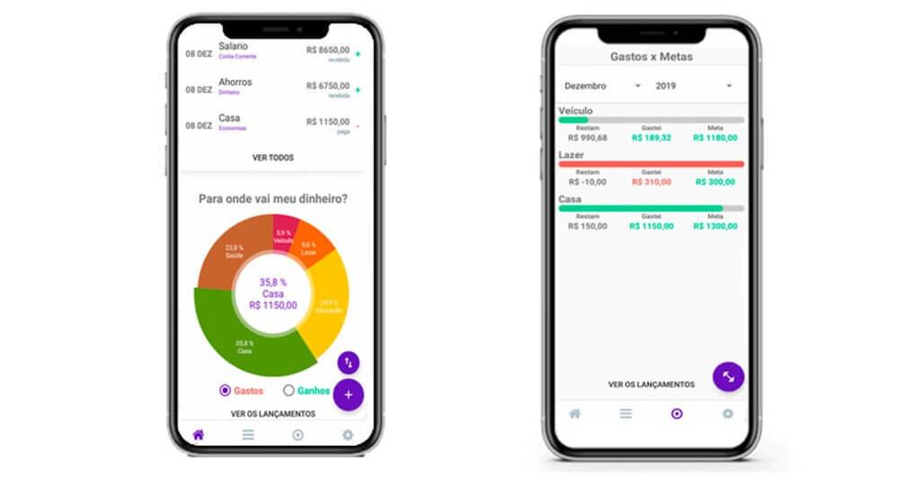 aplicativos para controle de gastos wisecash